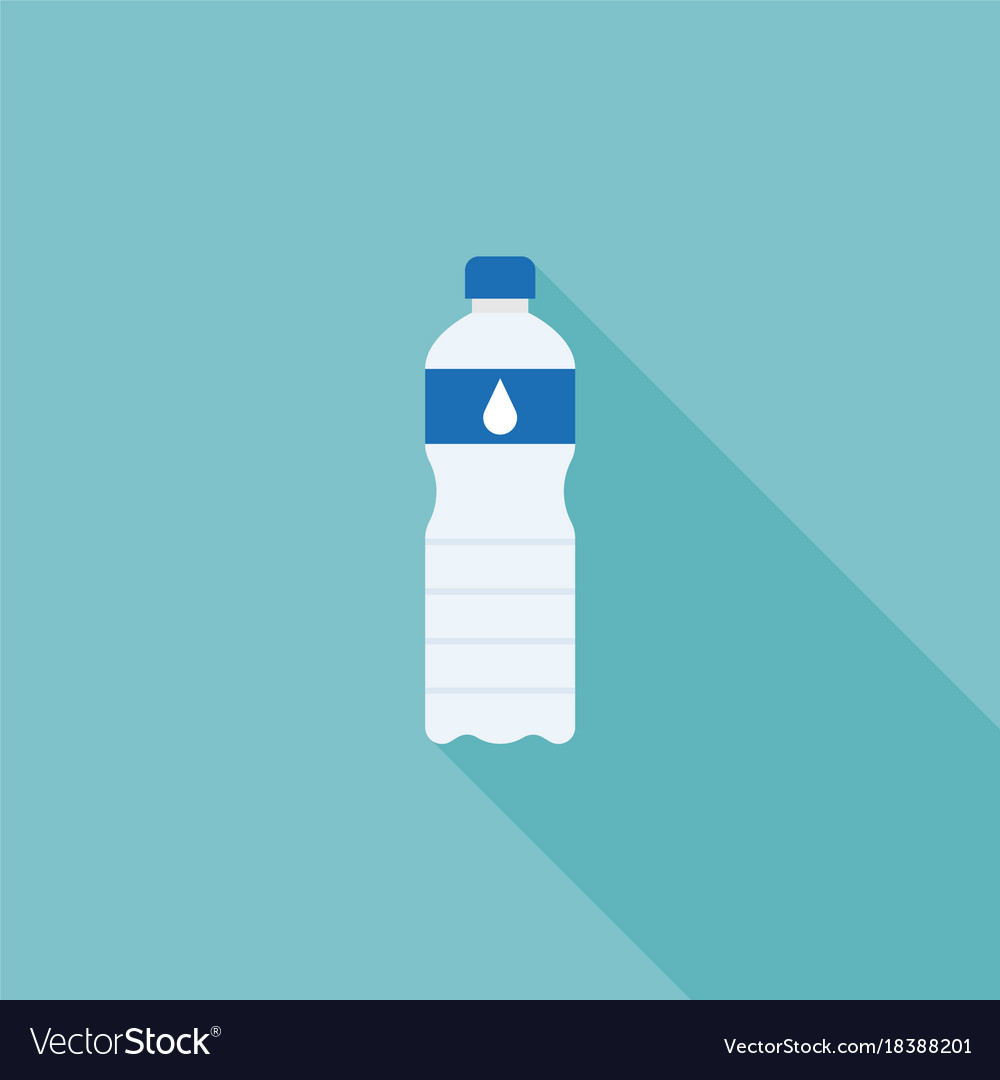 Mineral water bottle flat design icon