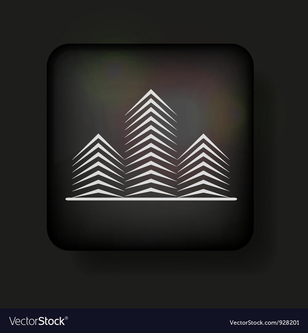 Minimalistic Buildings icon vector image