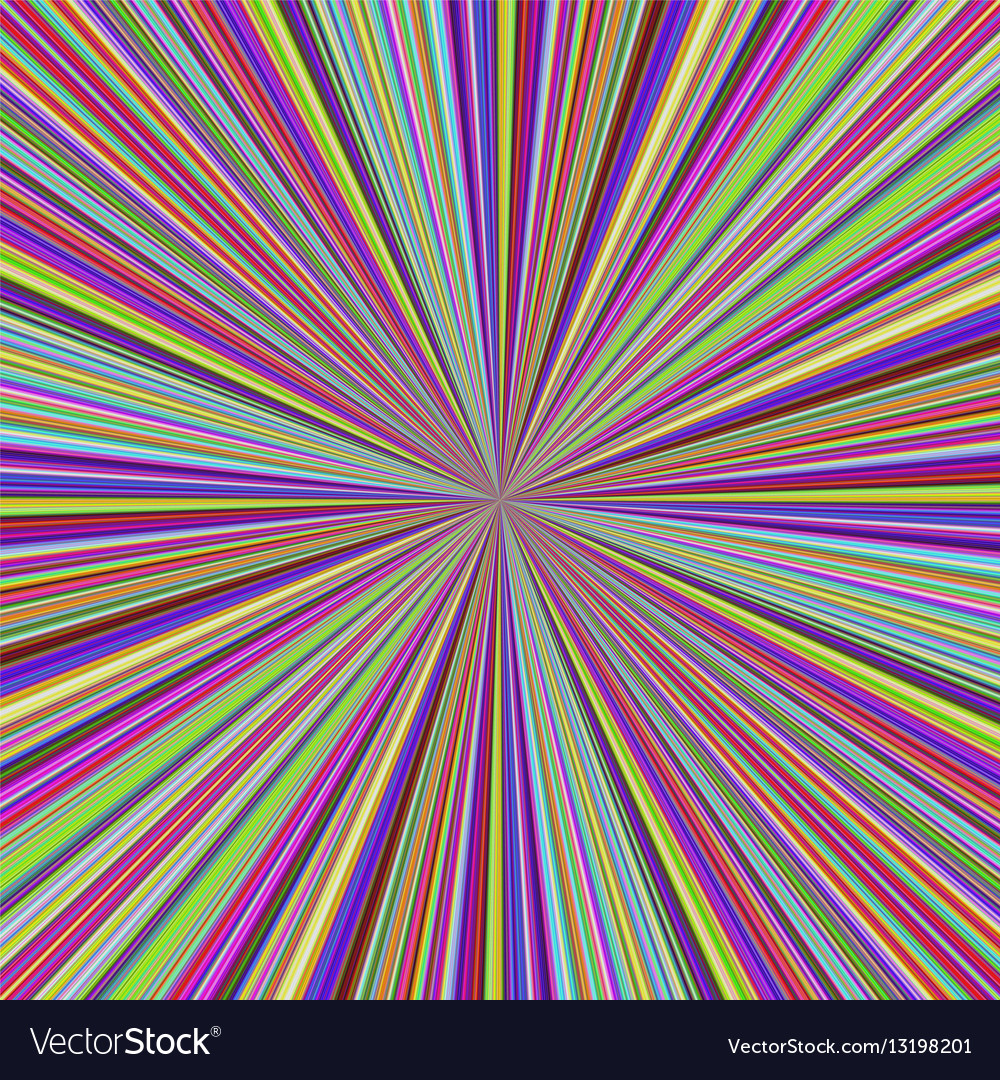 Multicolored ray burst motion background