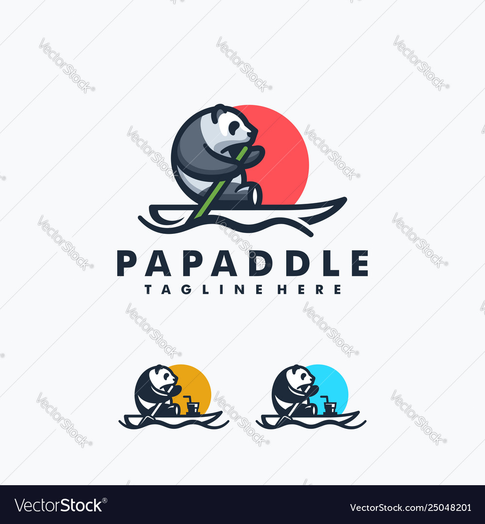 Panda paddle design concept template