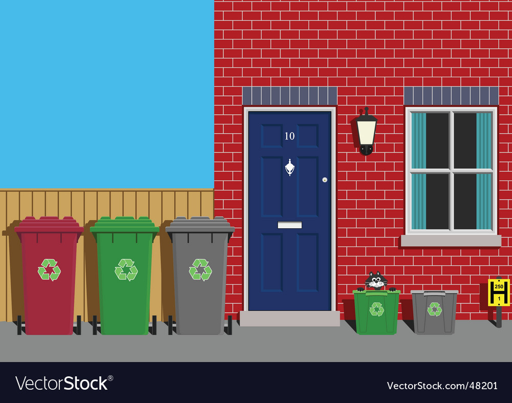 Recycling collection day vector image
