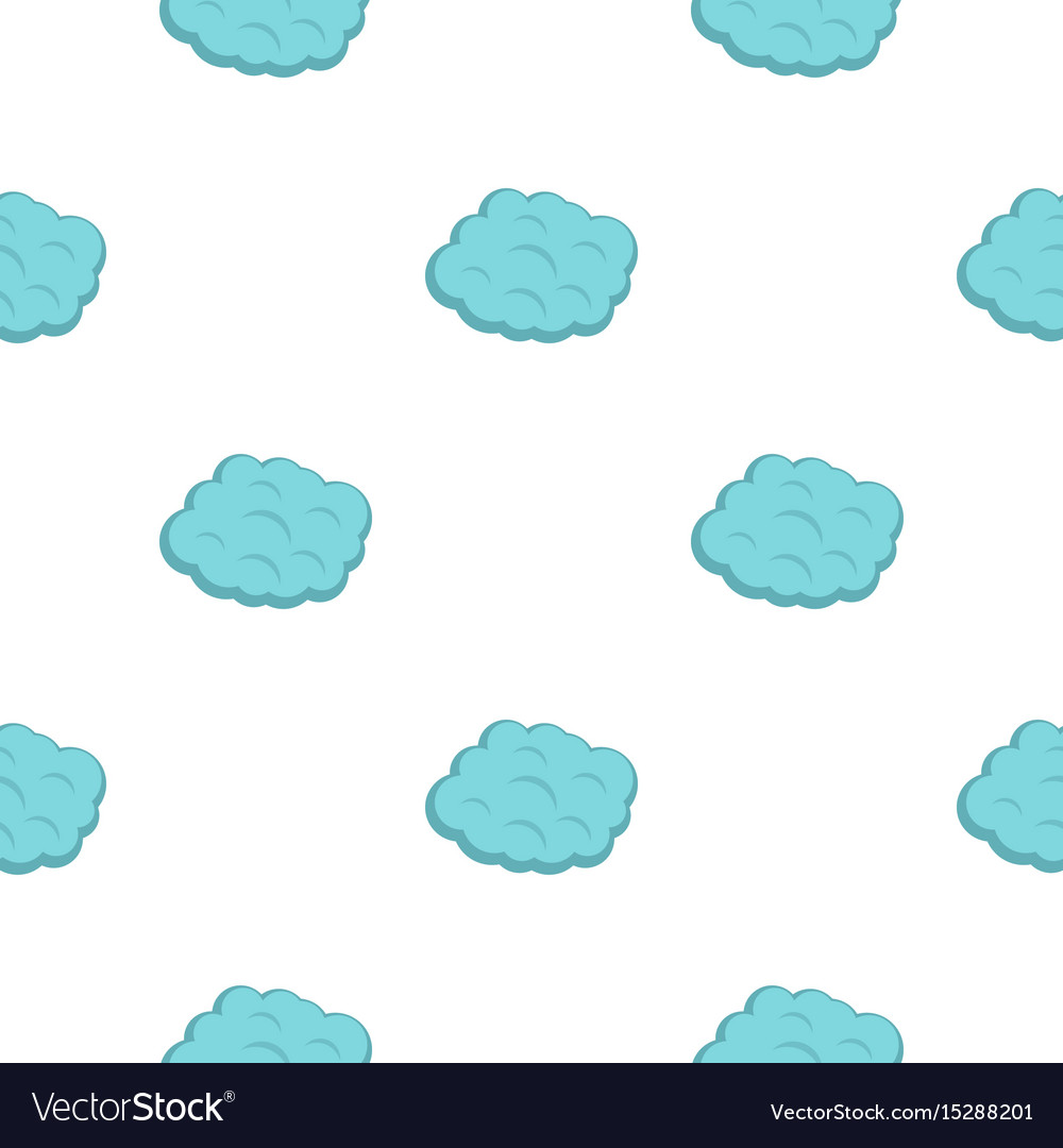 Round cloud pattern flat