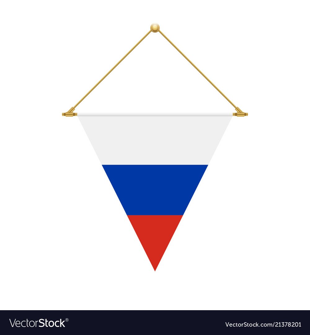 Russian Triangle Flag Hanging Royalty Free Vector Image
