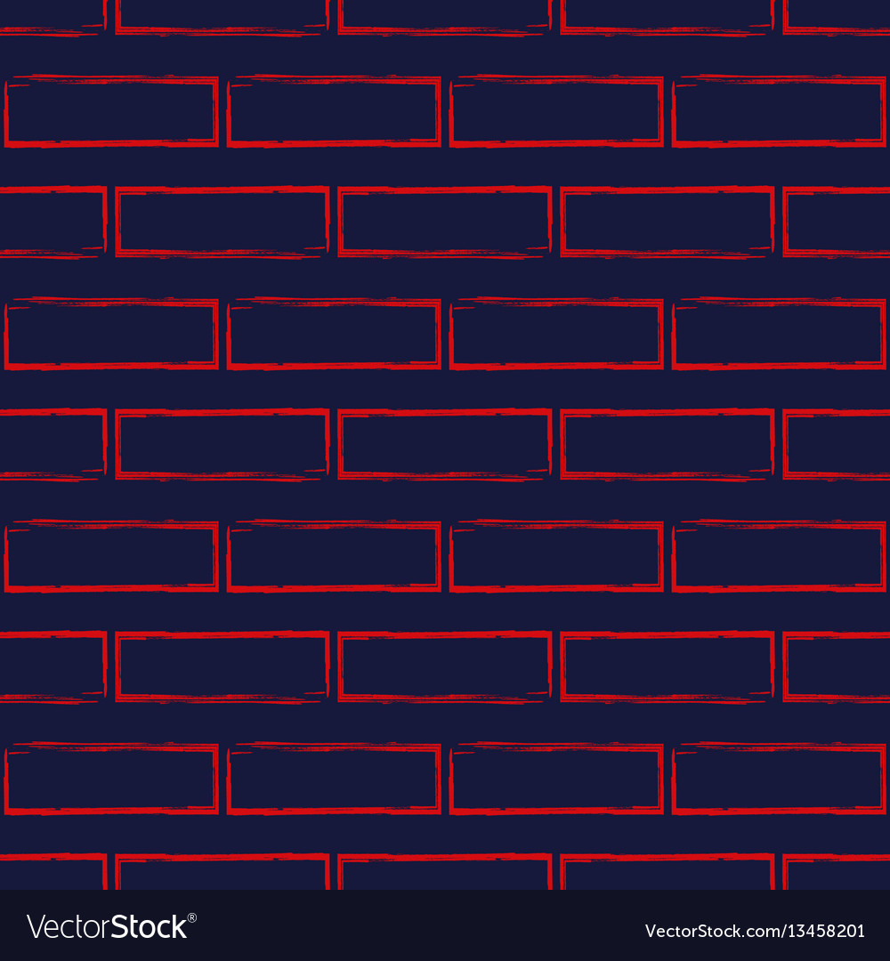 Seamless pattern of stylized brick wall vector image