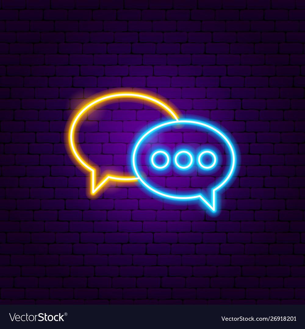 Speech bubble neon sign