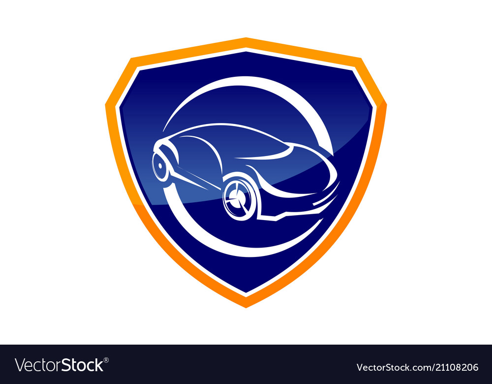 Auto insurance logo design template