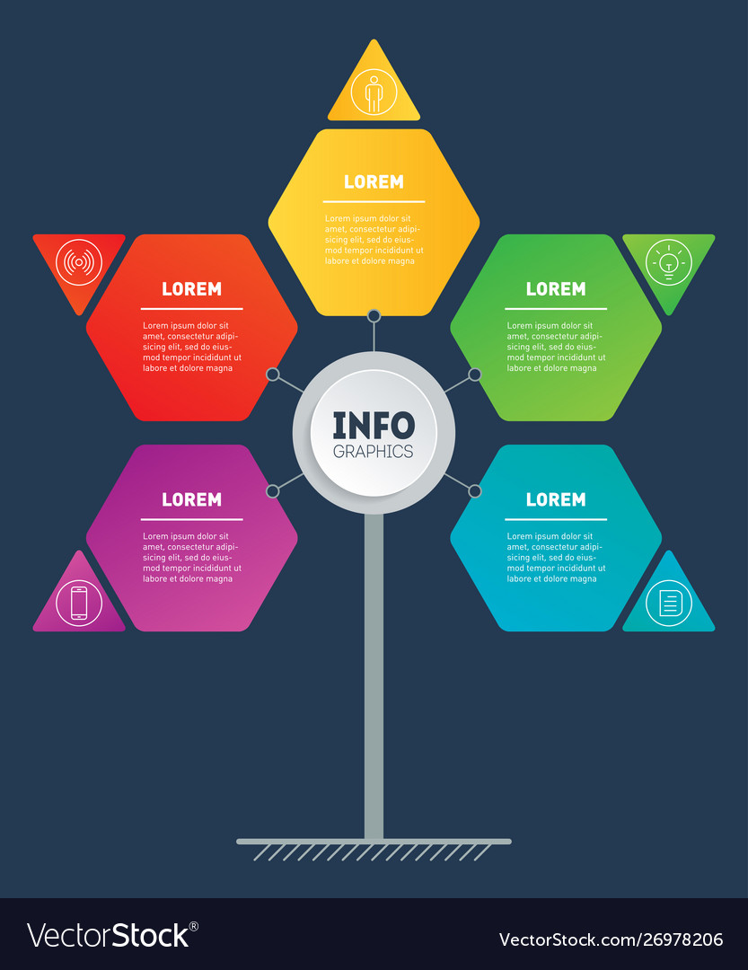 Business presentation or infographics concept