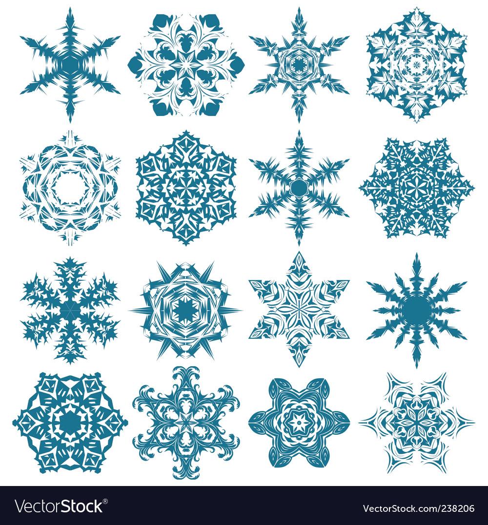 christmas snowflakes royalty free vector image