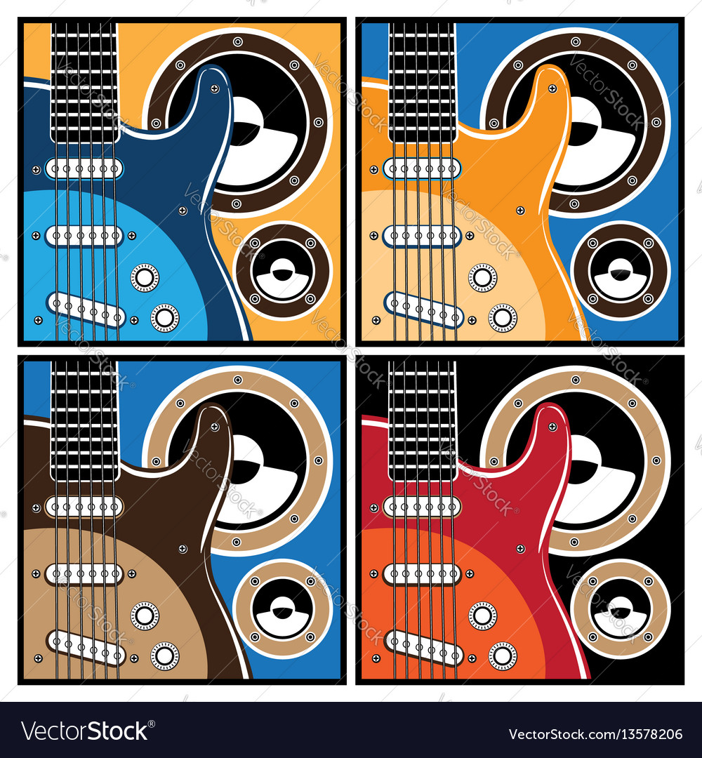 Colorful guitar and speaker systems