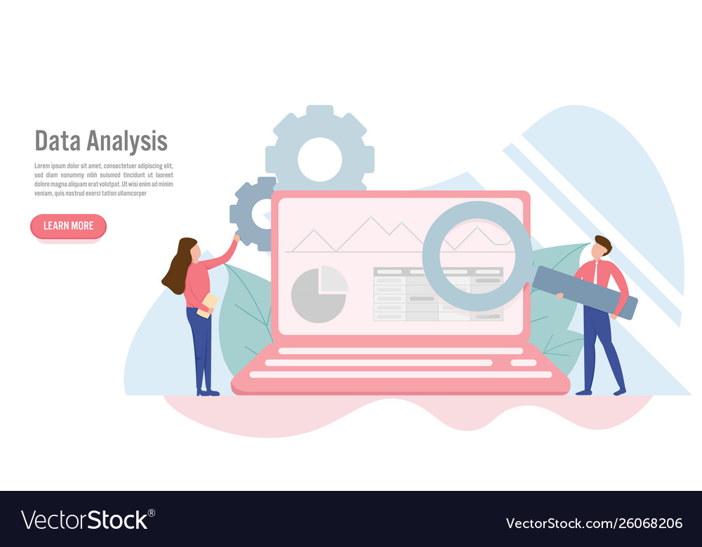 Data analysis concept with character creative