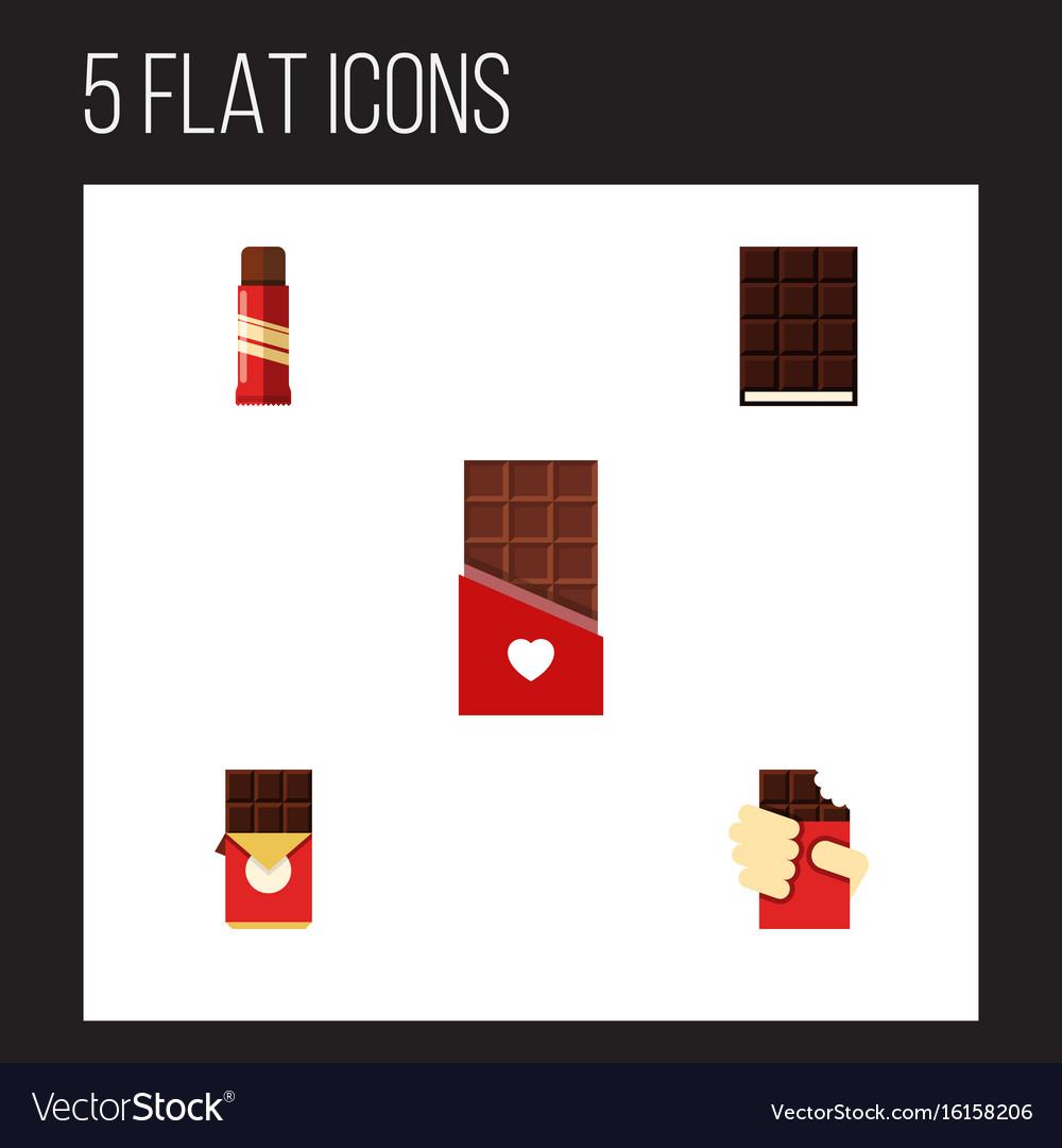 Flat icon bitter set of sweet chocolate shaped