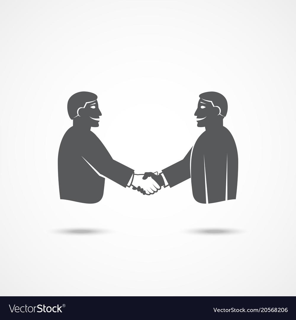 Handshake icon on white
