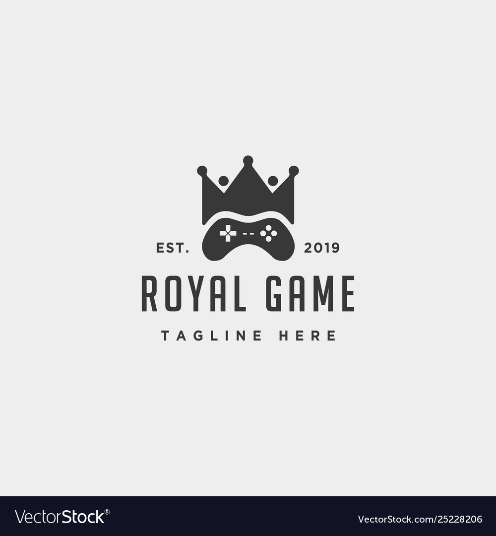 Royal game logo design template concept controller