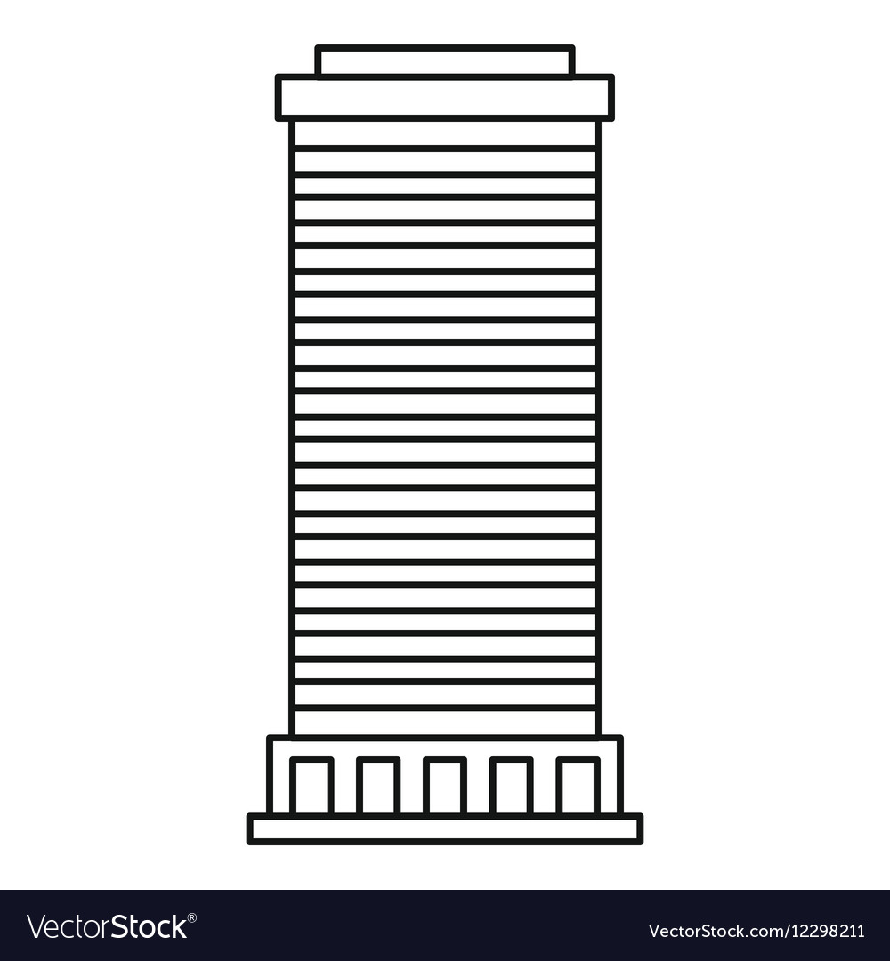 Column icon outline style vector image