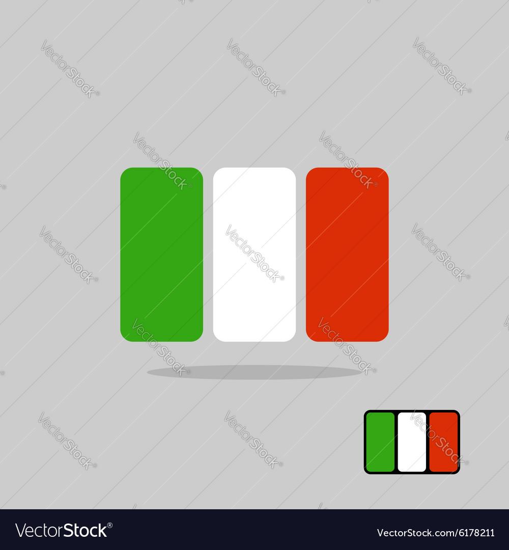 Italy flag stylized Flag Italian of geometrical