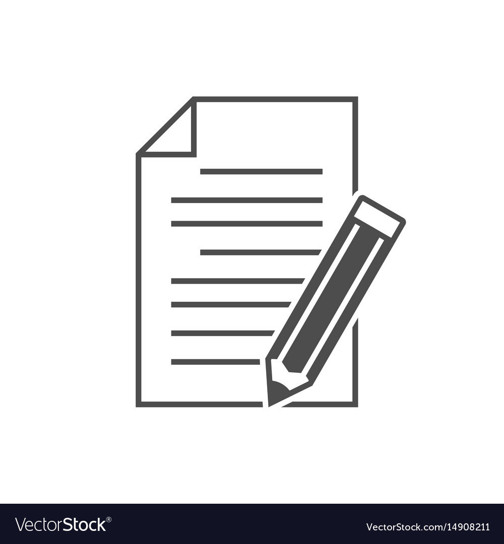 Note with pencil icon