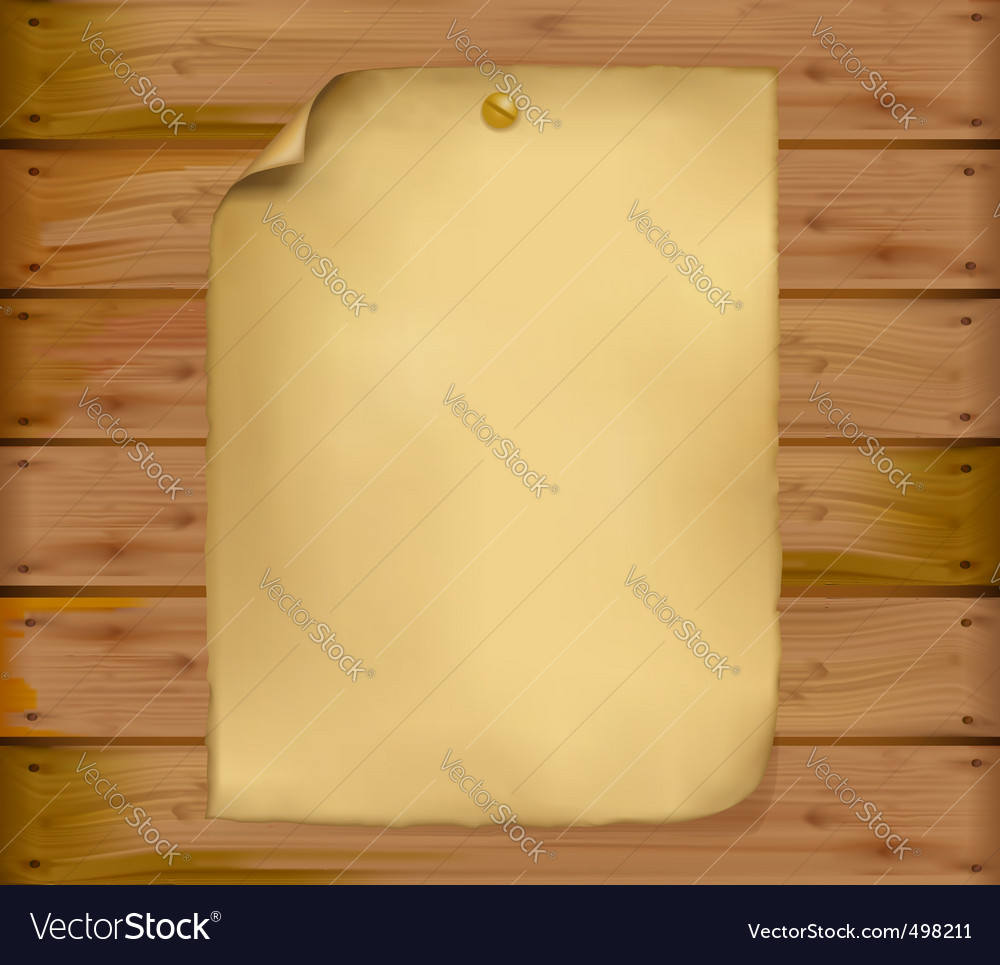 Old paper brown wood background vector image