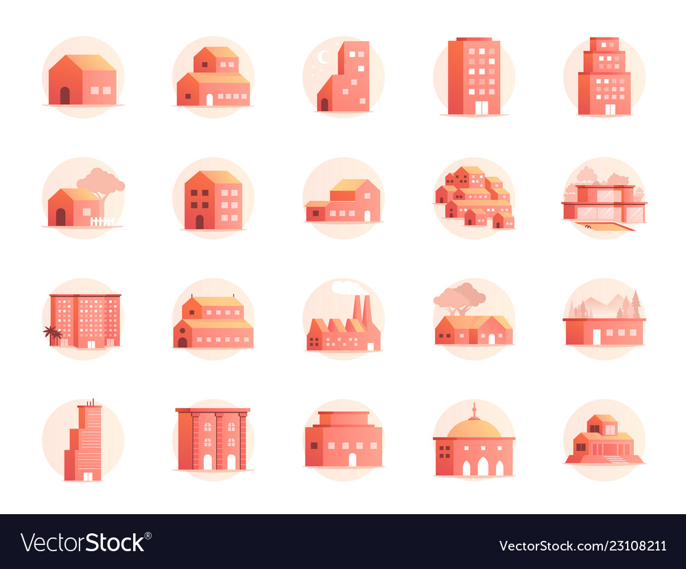 Property colors icon set