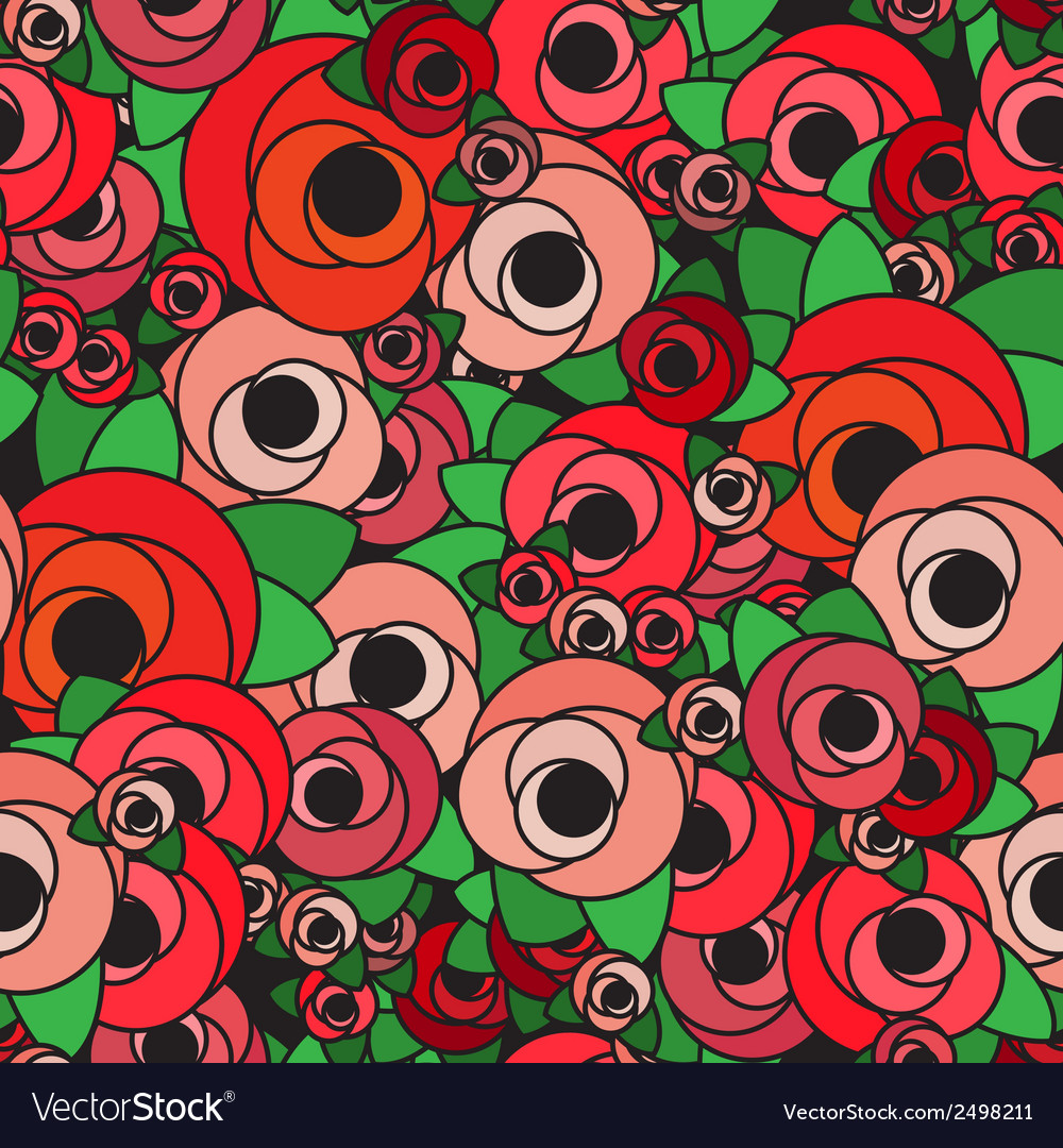 Seamless background pattern with flowers