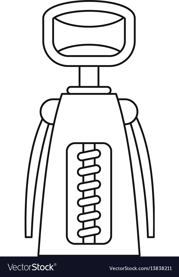 Tool for opening bottles icon outline style
