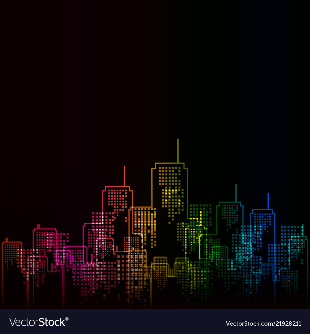 Urban abstract background in rainbow colors