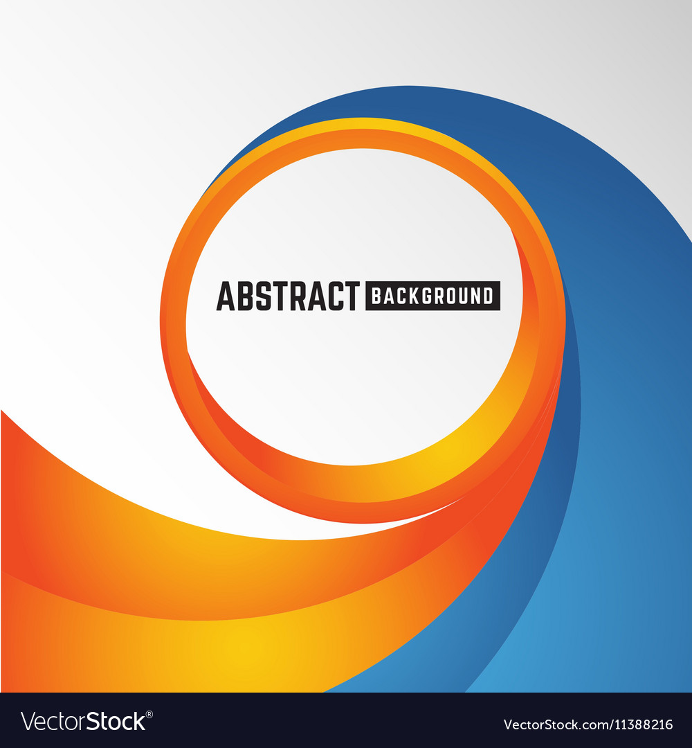 Abstract orange and blue curve circle background vector image altavistaventures Images