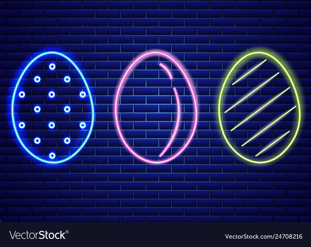 Easter neon eggs symbol seasonal holiday
