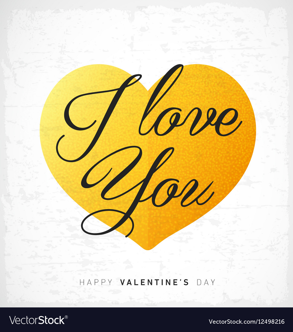 I Love You Happy Valentines Day Lettering Card
