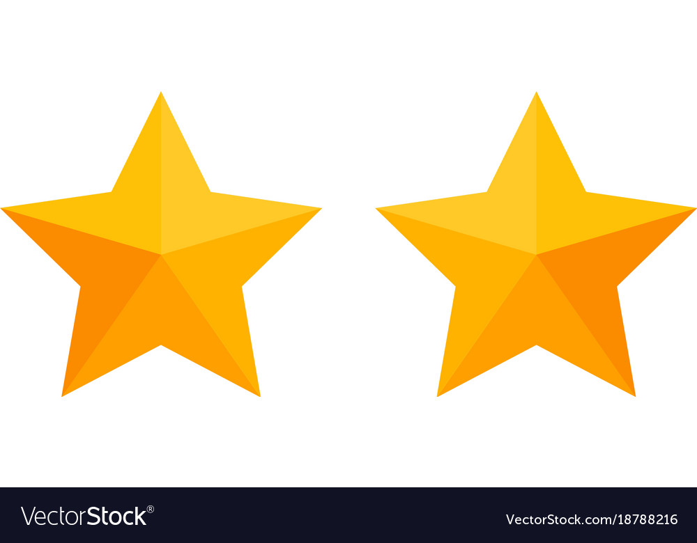 Simple Business Icon Of Stars Symbol Design Vector Image