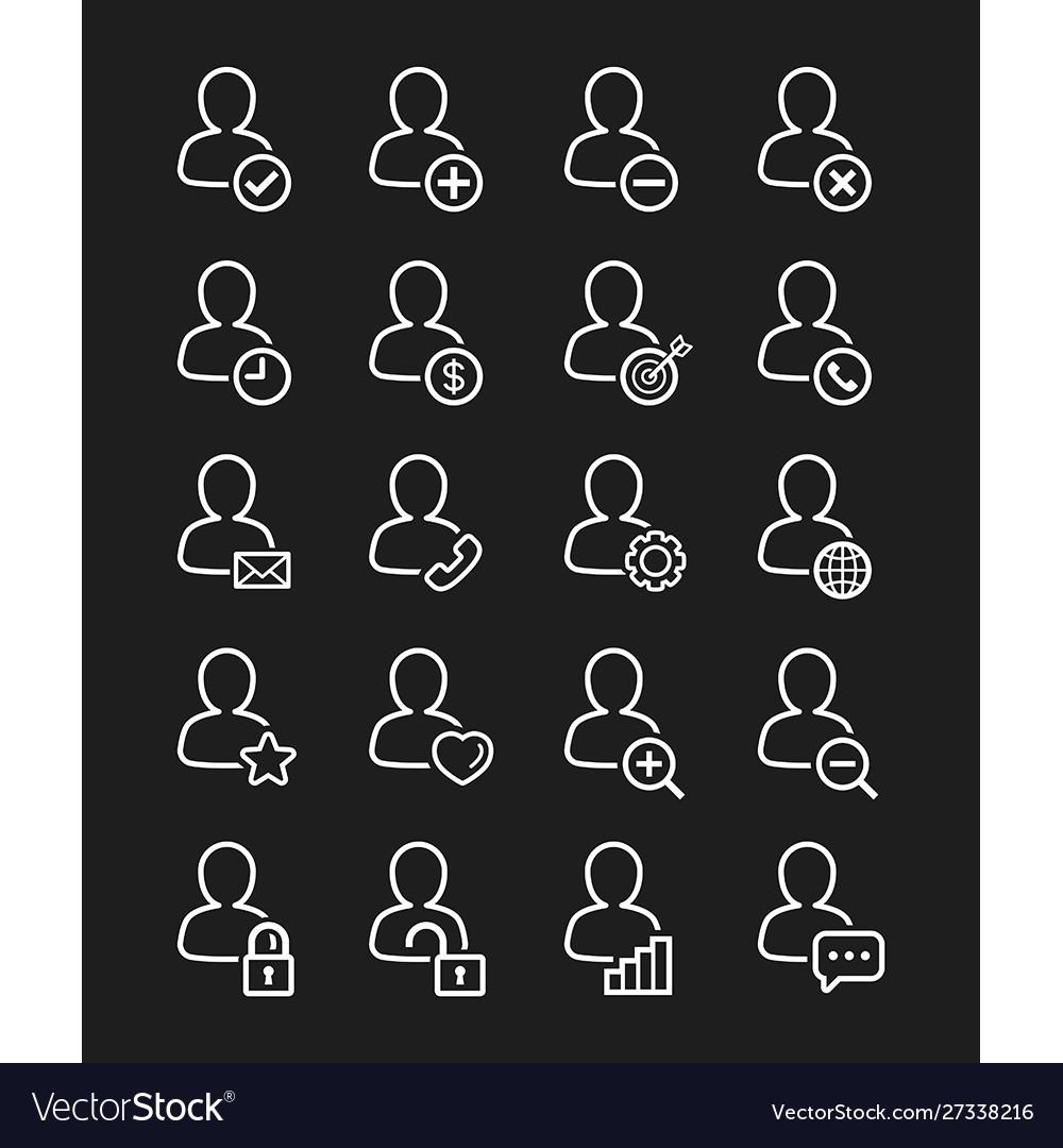 User icon line style set