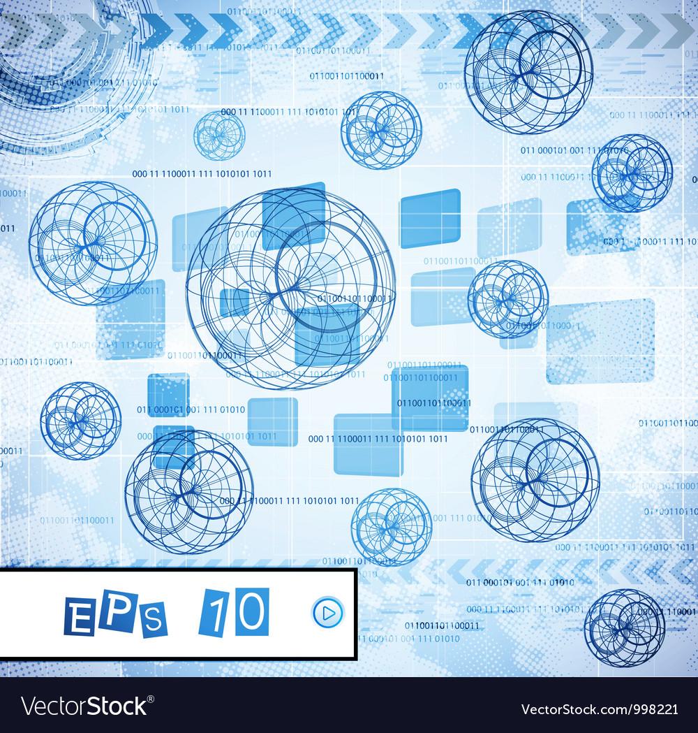 Abstract tech design vector image
