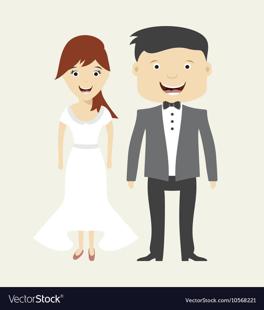 Bride and groom wedding icon