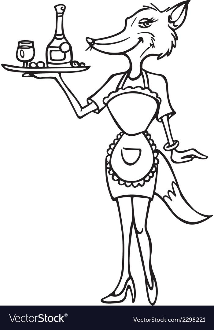 Fox cocktail waitress outline