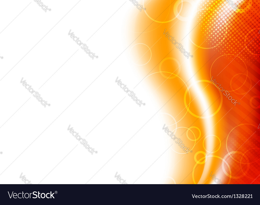 Orange sunburst background template