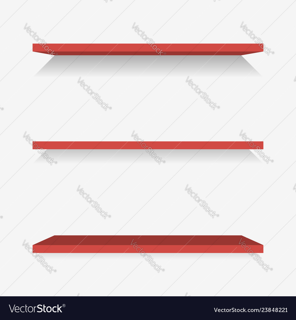 Plastic shelves with shadow