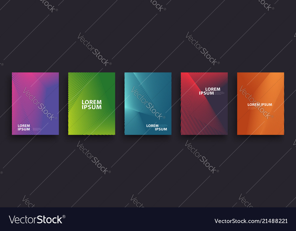 Simple modern covers template design set of