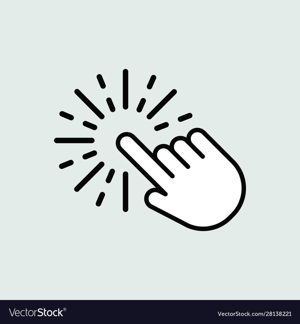 Touch icon isolated for graphic and web design