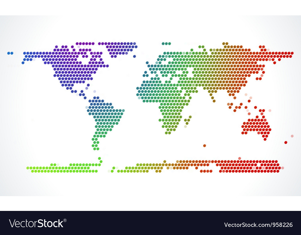 Abstract world map from dots royalty free vector image abstract world map from dots vector image gumiabroncs