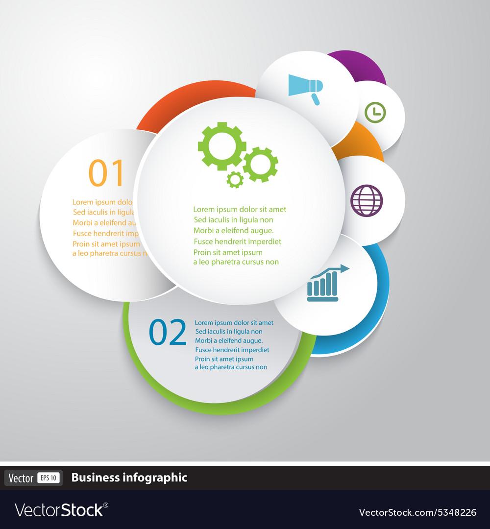 Circles modern business Infographics design vector image