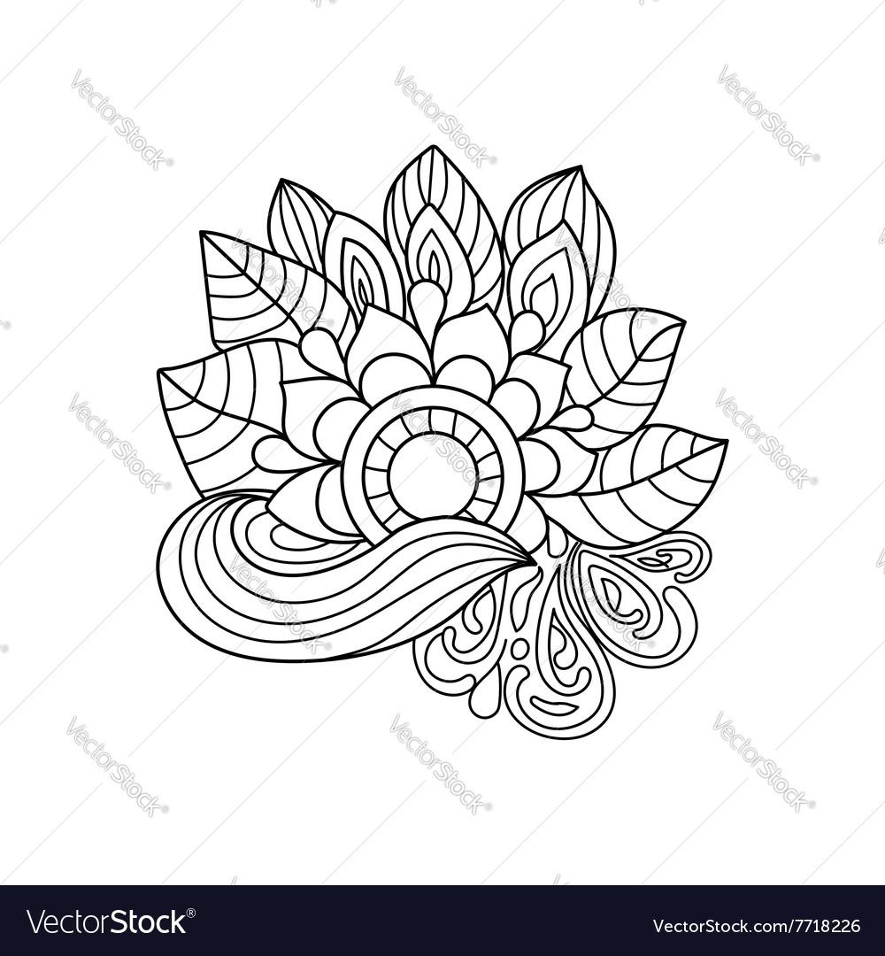 Doodle art flowers Zentangle floral pattern