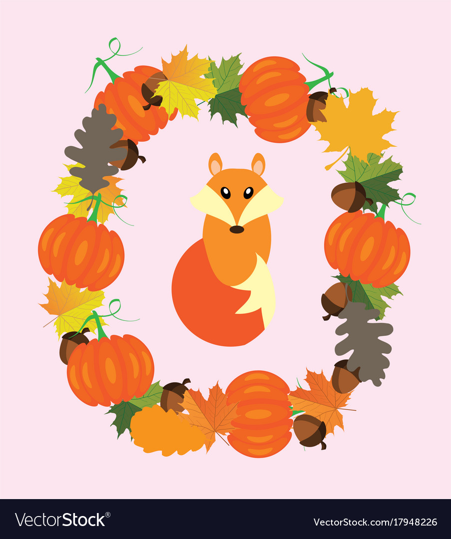 Fall fox vector image