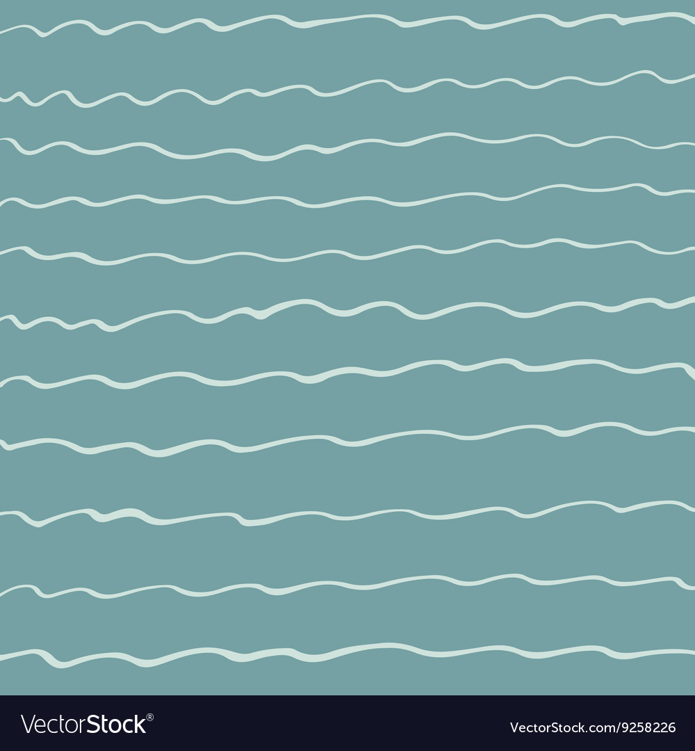 Hand drawn wave pattern vector image