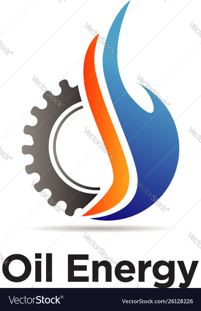 Oil machine engineering logo sign symbol icon