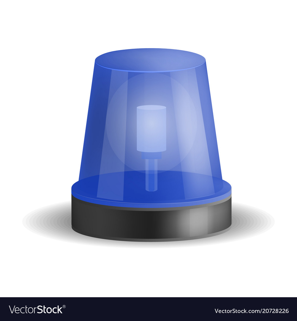 Police Siren Icon Realistic Style Royalty Free Vector Image