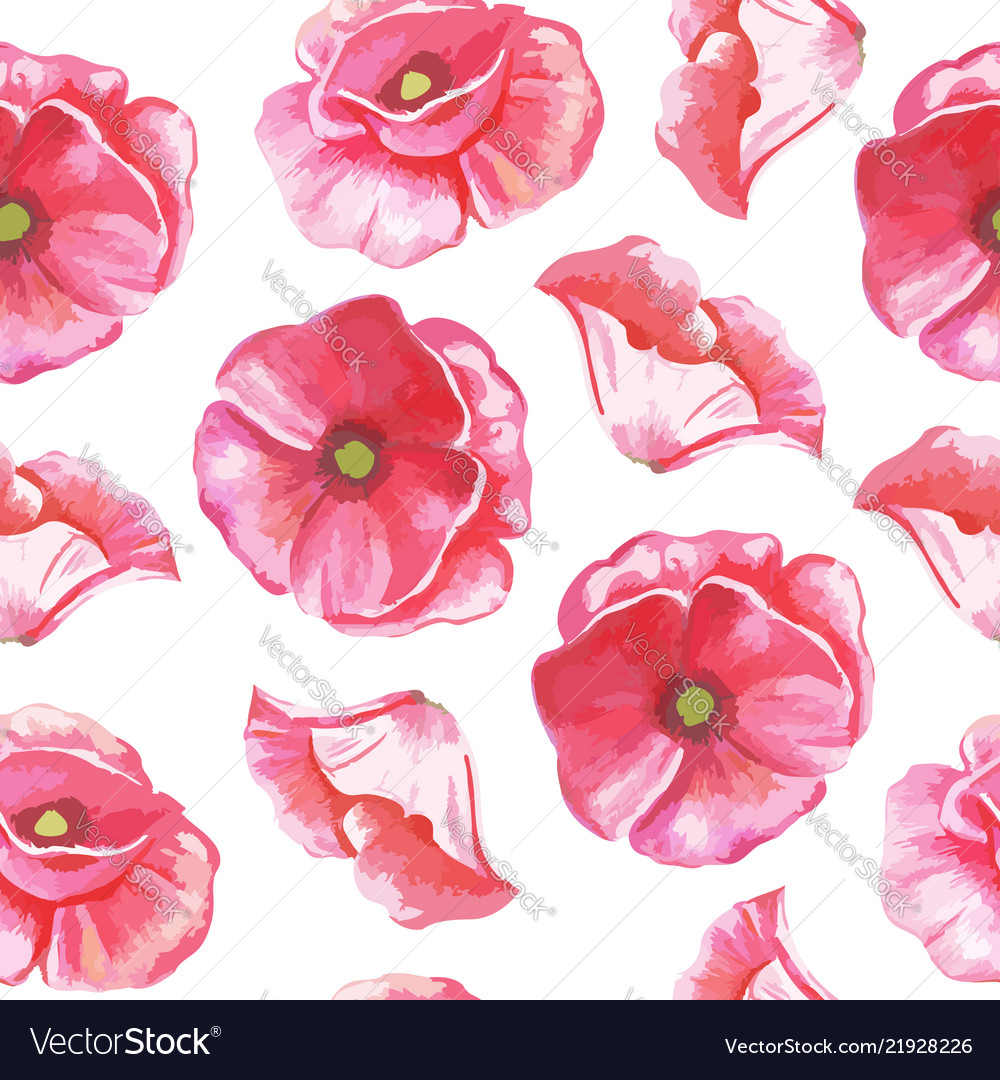 Seamless pattern of flowers of tulips