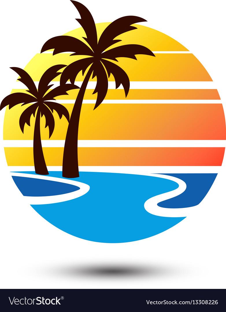 summer logo royalty free vector image vectorstock rh vectorstock com summer vector images summer vector free