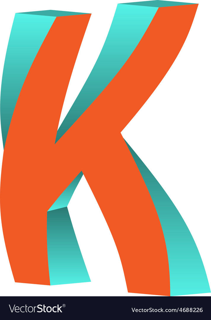 Twisted Letter K Logo Icon Design Template Element