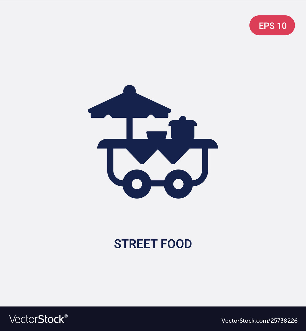 Two Color Street Food Icon From Fast Food Concept