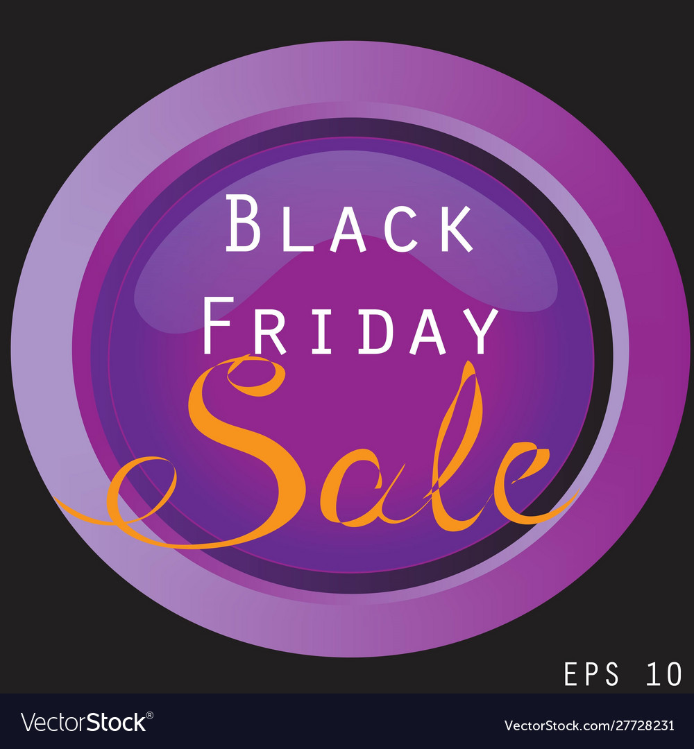 Black friday sale sign and banner