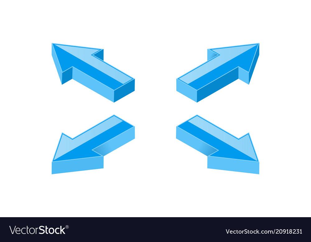 Blue arrows combination shiny icons